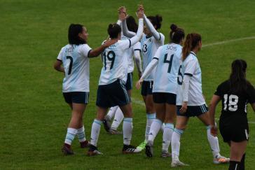Das Team aus Argentinien beim letzten Training