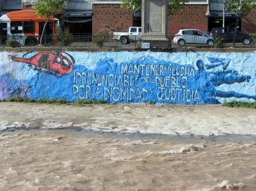 Grafito zur Flucht einiger ehemaliger Guerilleros in Santiago