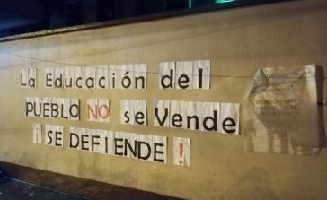 """Studierende in Guatemala wehren sich gegen Privatisierung: """"Die Bildung des Volkes wird nicht verkauft, sie wird verteidigt"""""""