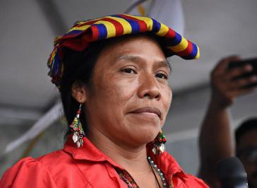 Die frühere Vorsitzende der Bauernorganisation Codeca und MPL-Präsidentschaftskandidatin, Thelma Cabrera