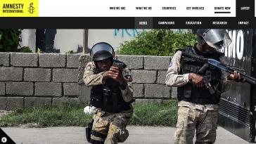 Bericht von Amnesty International zur Polizeigewalt in Haiti