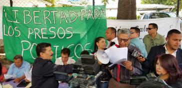 Kundgebung für die Freilassung der politischen Gefangenen in Tegucigalpa