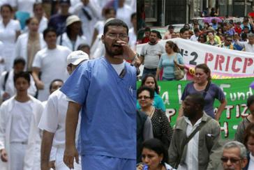 Die Proteste der Gewerkschaften des Bildungs- und Gesundheitssektors gegen mehrere vom Kongress verabschiedete Gesetze halten an