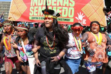 Indigene in Brasilien protestieren für ihre Rechte