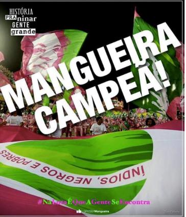 Beim weltberühmten Karneval in Rio ehrte die Gruppe Mangueira das Gedenken an Marielle Franco im Sambadromo