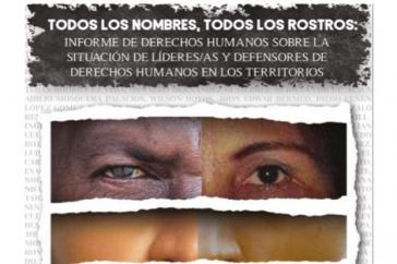 Das Institut für Entwicklung und Frieden (Indepaz) veröffentlichte gemeinsam mit Marcha Patriótica den Bericht über die Menschenrechtslage