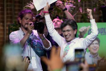 """Die """"Grüne"""" Claudia López ist neue Bürgermeisterin der Hauptstadt Bogotá"""