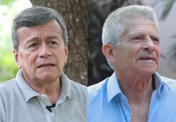 Kuba soll die beiden Mitglieder der ELN-Friedensdelegation, Aureliano Carbonell (rechts im Bild) und Pablo Beltrán an Kolumbien ausliefern (Kollage)