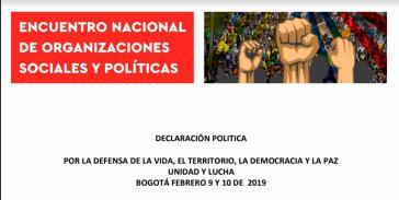 Bei dem Treffen sozialer und politischer Organisationen wurden eine gemeinsame politische Erklärung und verschiedene Aktionen beschlossen