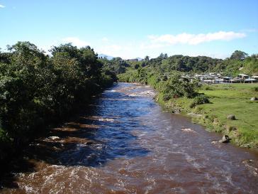 Der Fluss Cauca nahe Popayán, Kolumbien