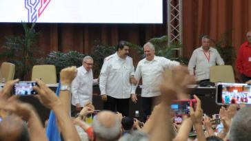 Auf der Konferenz nahmen neben dem kubanischen Präsidenten Miguel Díaz-Canel auch dessen Vorgänger Raul Castro und Nicolas Maduro teil