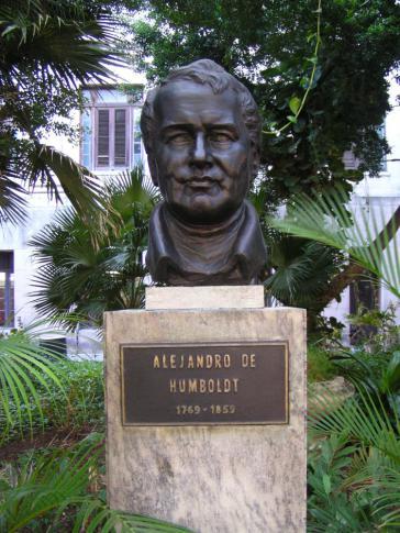 Büste von Alexander von Humboldt auf dem Campus der Universität von Havanna, Kuba