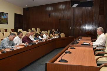 Kubas Präsident mahnte bei dem Treffen mit Anec-Vertretern die Umsetzung der Wirtschaftsreformen an