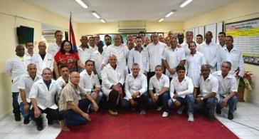 Die Brigade des Henry Reeve-Kontingents kurz vor dem Abflug nach Mosambik