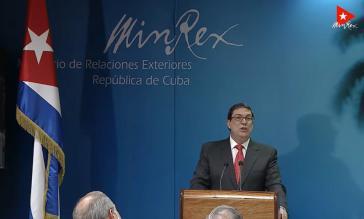 Kubas Außenminister stellte den neuen Bericht zu den Folgen der US-Blockade vor