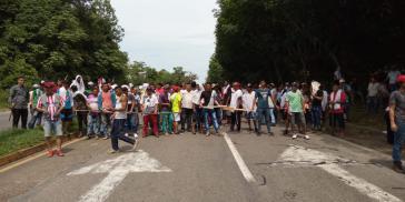 Auch in Lizama, nördlich der Hauptstadt Bogotá, werden die Proteste fortgesetzt