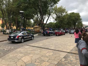 Im Zentrum von San Cristóbal ist vermehrte Polizei- und Militärpräsenz festzustellen