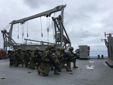 Mexikanische Marineinfanteristen bei einem Manöver