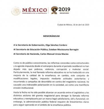 Mit einem Memorandum setzte Mexikos Präsident López Obrador die heftig bekämpfte Bildungsreform seines Vorgängers Peña Nieto außer Kraft