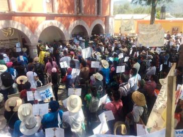 Nahua-Indigene besetzten symbolisch das Büro von Gorrión in Santa María Zotoltepec
