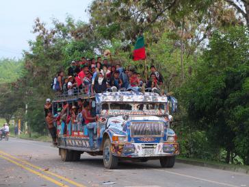 Weitere Indigene reisen Tag für Tag an, um den Protest zu unterstützen.