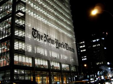 Das Hauptquartier der New York Times in Manhattan, New York City, USA