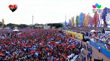 Bei der Feier zum 40. Jahrestag der Revolution in Nicaragua sprach Präsident Daniel Ortega über seine Forderungen an die Opposition für eine erfolgreiche Gestaltung des Friedensdialogs
