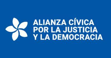 Logo der Alianza Cívica in Nicaragua. Die Regierung hat die Verhandlungen mit dem Oppositionsbündnis für beendet erklärt
