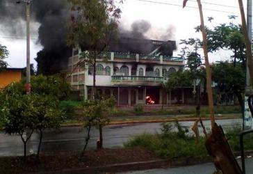 In diesem Haus im Barrio Carlos Marx in Nicaraguas Hauptstadt Managua verbrannten sechs Menschen