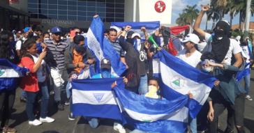 Demonstranten gegen die Regierung Ortega am vergangenen Samstag in Nicaraguas Hauptstadt Managua