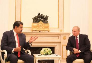 Unter Freunden: Venezuelas Präsident Nicolás Maduro mit Amtskollegen Wladimir Putin in Moskau