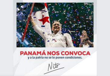 """""""Panama ruft uns und dem Vaterland werden keine Bedingungen gestellt"""". Cortizo bezog sich nach seinem Wahlsieg auf Omar Torrijos"""