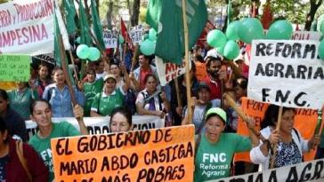 An zwei Tagen protestierten Kleinbauern in acht Departamentos gegen Vertreibungen und für gerechte Landverteilung