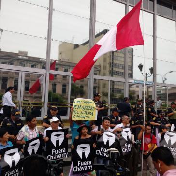 Vor dem Rücktritt des Generalstaatsanwalts Pedro Chávarry kam es in Peru zu vielen Protesten gegen ihn