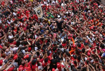 Am Samstag wurde Lula in Sao Bernardo do Campo von Anhängern gefeiert