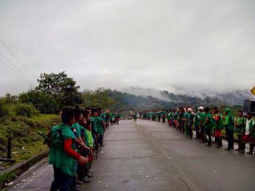 Proteste am Freitag in Tadó, einer Gemeinde im Department Chocó in Kolumbien