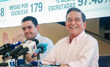 Sieger mit knappen Vorsprung: Nito Cortizo in der Wahlnacht