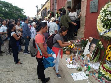Bei der Trauerfeier für Francisco Toledo in Oaxaca, Mexiko