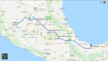 """Karawane """"Toxi-Tour"""": Knapp 1.300 Kilometer und acht Tage Anschauungsunterricht zu den Umweltverbrechen transnationaler und mexikanischer Unternehmen"""