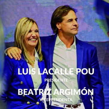 Wahlsieger: Lacalle Pou und seine Vize Beatriz Argimón