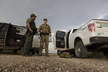 Beamte der US Border Patrol