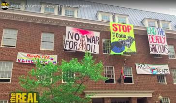 US-Aktivisten schützen Botschaft von Venezuela in Washington