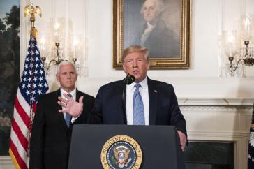 US-Präsident Donald Trump und sein Vize Mike Pence