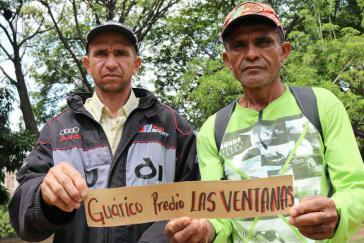 Die Kleinbauern José Pérez und Eulalio Esqueda kämpfen um ihr Grundstück Las Ventanas, das ihnen vom Staat zur Bearbeitung überlassen wurde