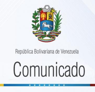 Logo des Kommuniqués des venezolanischen Außenministeriums