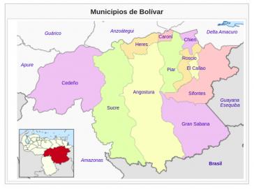 Die Überfälle ereigneten sich im Verwaltungsbezirk Gran Sabana des Bundesstaates Bolívar im Grenzgebiet zu Brasilien und Guyana