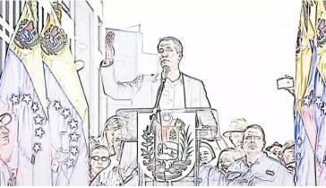Guaidó existiert nicht, und er ist doch so real. Nimmt er am Bankett teil ohne zu wissen, dass er das Hauptgericht ist?