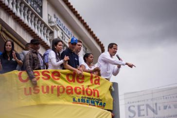 """In dem geleakten Audio stellt Pompeo die Führungsposition von Guaidó in Frage und nennt sie """"schwach"""""""