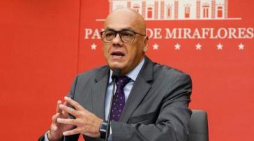 Venezuelas Informationsminister Jorge Rodríguez betonte die Bereitschaft der Regierung zum Dialog