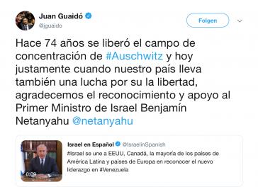 """""""Ebenfalls ein Kampf für Freiheit"""": Auschwitz-Vergleich von Parlamentschef Guaidó in Venezuela"""